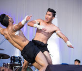 Muai thai exhibition at the  Thailand  festival — Photo