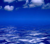 Sky and blue water — Stock Photo