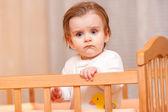 Serious little girl — Stock Photo