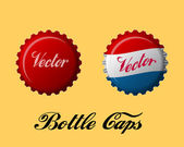 Bottle caps — Vector de stock