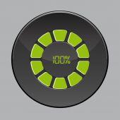 Percentage button — Stock Vector
