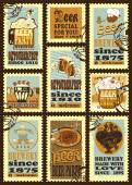 Postage stamps for Oktoberfest. — 图库矢量图片