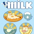 Постер, плакат: Always fresh milk