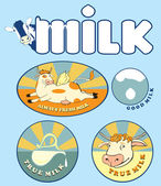 Always fresh milk — Stock Vector