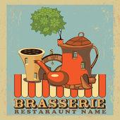 Brasserie.Design for menu — Stock Vector