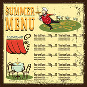 Summer menu — Stock Vector
