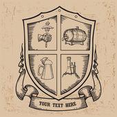дизайн марки пива — Cтоковый вектор