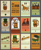 Set of beer labels — Stock Vector