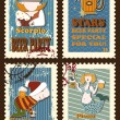 Set of postage stamps with zodiac sings — Stock Vector #68292061