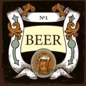 Beer label design — Stock Vector