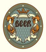 Beer labels design — Stock Vector