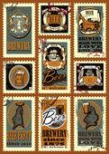 Posta pulları kümesi — Stok Vektör