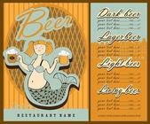 Conception de menus de bière. — Vecteur