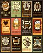 Beer labels design set — Stock Vector