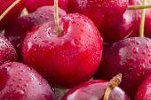 Heart shaped cherry isolated on white background — Stock Photo
