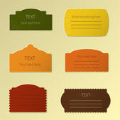 Set of autumn labels — Vetor de Stock