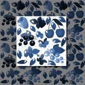 Seamless berries background — Vetor de Stock