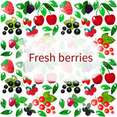 Bright berries background — Stock Vector