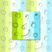 Seamless fruit background — Stock Vector