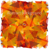 Abstract yellow triangles background — Stock Vector