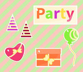 Colorful party symbols — Stock Vector