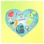 Volver a artículos escolares — Vector de stock