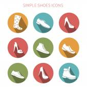 Simple footwear icons — 图库矢量图片