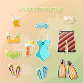 Schwimmbad-Symbole. — Stockvektor
