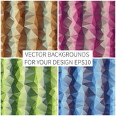 Abstract triangles backgrounds — Wektor stockowy