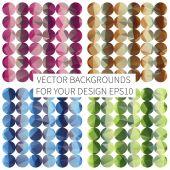 Set of bright triangles backgrounds — Stockvektor