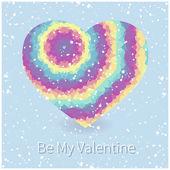 Valentine's card with rainbow heart. — Διανυσματικό Αρχείο