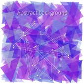 Abstract violet triangles — Stock Vector