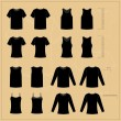 Different black T-shirts — Stock Vector #69875203