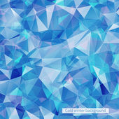 Abstract Blue banner with triangles — Vettoriale Stock