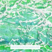 Crumpled watercolor background — Cтоковый вектор