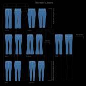 Set van jeans pictogrammen — Stockvector