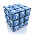 FAQ cube with a question marks — Stock Photo #55898187
