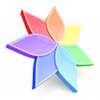 Flower Color Wheel 3D — Stock Photo #56497243