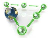 Network planets — Foto de Stock
