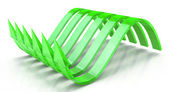 Green wavy arrows, concept of the latent potential — Stock Photo