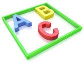 Alphabet Concept. ABC squared  — Stock Photo