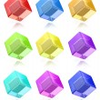 Multicolored cubes set — Stock Photo #57596891