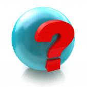 Sphere and question mark faq — Stock Photo