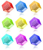 Multicolored cubes set — Stockfoto