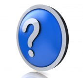 Question mark faq — Stock Photo