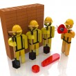 Management team of workers in the construction industry — Stock Photo #58690643