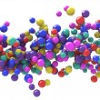 Abstract Particles Background - Wave of Colored balls — Stock Photo #59213605