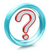 FAQ question mark and blue circle — ストック写真