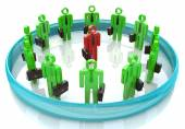 3d team leader boss company teamwork — Stock Photo