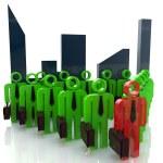 3d team leader boss company teamwork — Stock Photo #59798261